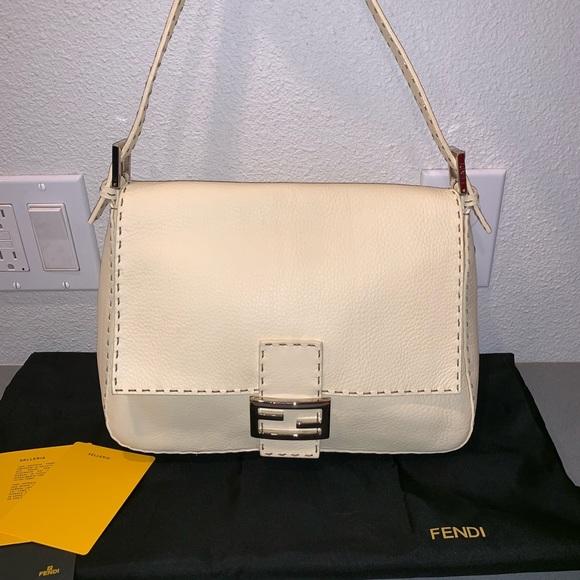 Fendi Handbags - Authentic fendi selleria mama zucca shoulder tote